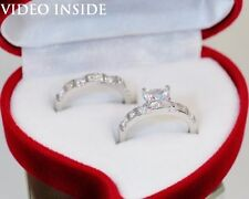 Fine 2.28 Carat Engagement Ring Wedding Ring Platinum Finish Made in Italy d g