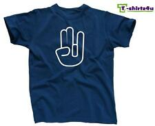 The SHOCKER Hand Funny Sex Rude Sexy Offensive College Party T-Shirt NEW Blue