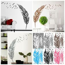 Birds Flying Feather Wall Sticker Vinyl Removable Home Decal Mural Art Decor DIY