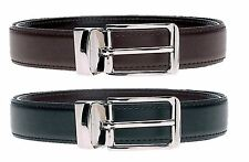 Mens Reversible Black Brown Leather Belt Casual Size 32 34 36 38 40 42 Waist