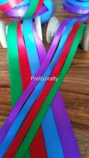 SATIN DOUBLE SIDED RIBBON 10mm 25mm Small Craft Ribbon 5 Metres Vibrant Colours