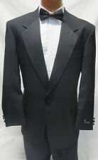 42 Long Brand New Mens Black Classic Tuxedo Jacket w/ Trousers James Bond Tux