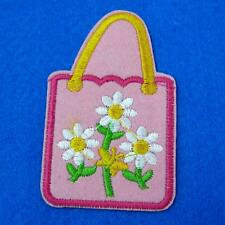 Flower Floral Bag Iron Sew on Lace Patch  Applique Badge Embroidered Applique