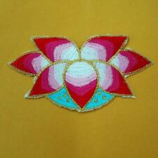Flower Floral Iron on Sew Patch Cute Applique Badge Embroidered Nature Women