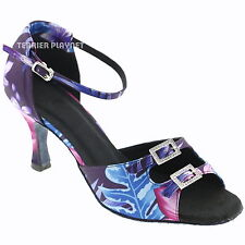 TPS Purple & Blue Latin Ballroom Salsa Dance Shoes All Sizes D597