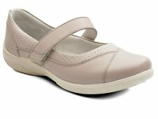 CLEARANCE Padders DENISE Ladies Leather Super Wide Velcro Fit Shoes Nude RRP £65