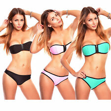 Bikini Damen Basketball Neopren Tauchanzug Neoprene Badeanzug Bademode Push-Up