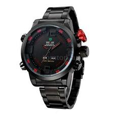 WEIDE Men Watch 3ATM Dual Time LED Digital Analog New Sports Quartz Wristwatches