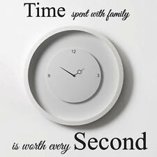 Time Spent with Family is Worth Every Second Art Wall Quote Stickers Decals bn