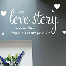 Every Love Story Wall Quote Stickers Wall Decals Words Lettering bn