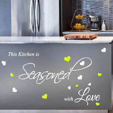 Kitchen Love Family  Wall Quote Stickers Wall Decals Words Lettering bn