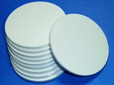 WHITE / BLACK / CLEAR LASER CUT PLASTIC CIRCLES 3MM THICK ACRYLIC DISCS PERSPEX