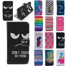 2015 New Hot Print Flip PU Leather Wallet Case Cover w/ Stand for Apple Samsung