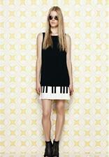 "Abito tubino vestito ""PIANO"" ispirato a Moschino Piano keys dress plissè skirt"