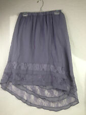 Romeo Juliet Couture Pleated HI-LO Woven Skirt With Lace Trim 100% Polyester