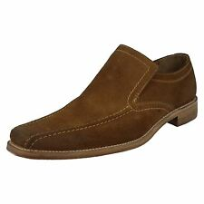 Mens Loake Formal Tan Suede Shoes Label - Leon Fitting F