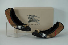 Burberry Shipley House Check Ballet Flat NIB $350 Authentic