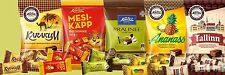 ESTONIA - Various Estonian Kalev candy bags Your choice LOT of 4 Bags