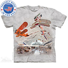 THE MOUNTAIN BOEING AVIATION HANGAR AIRPLANE SHIP AIRCRAFT ADULT TEE SHIRT S-5XL