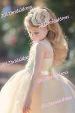 New Lace Baby Princess Bridesmaid Flower Girl Dresses Wedding Party Dresses