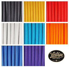 5 meter Cloth Covered Round Electrical Cord Vintage Fabric Wire