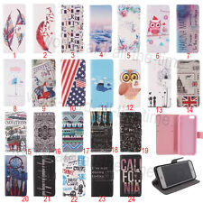Flip Wallet PU Leather Stand Case Cover For iPhone 4/4S/5/5S/5C/6/Plus & Samsung