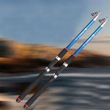 Newest Carbon Fiber Telescope Fishing Rod Travel Spinning Fishing Pole Portable