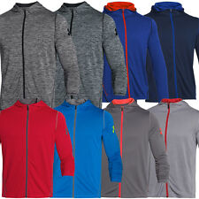 Under Armour 2015 Mens UA Tech LS Full Zip Hoody Lightweight Gym Training Hoodie