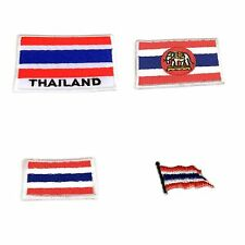 Flag Of Thailand Emblem Sew Iron On Patch Thai Embroidered Applique Flags Design