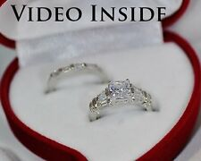 Princess Cut 1.0CT Engagement Ring Diamond Ring Platinum F.22KT S Made in Italy