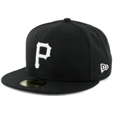 New Era Pittsburgh Pirates BK WH Fitted Hat (Black/White) Men's 59Fifty Cap