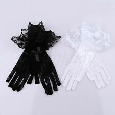 Lady Sexy Lace Stretch Mesh Prom Bridal Wedding Party Dress Costume Finger Glove