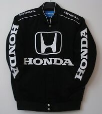 Authentic Honda Racing Embroidered Cotton Jacket JH Design Black