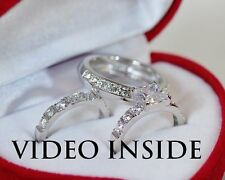 Royal His&Hers 3 Pieces Wedding Ring Set Engagement Ring Platinum Made in Italy