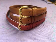 Coach Vintage Leather Belt Womens British Tan Red 8400 made in USA