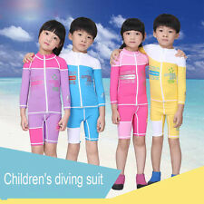 New Kids Long Sleeve Top Shirt Rash guard Swim Shorts Set Sun Shirt Surfing Suit