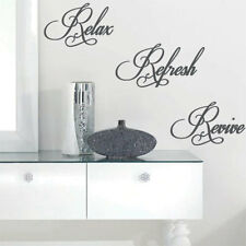 Relax Refresh Revive Wall Quote Art Stickers Wall Decals-one size