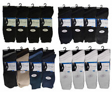 12 PAIRS MENS 100% COTTON Everyday Socks, No Pattern ANTI-BACTERIAL Uk 6-11