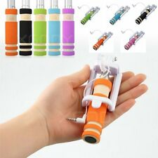 Remote Shutter For iPhone 5s Extendable Handheld Selfie Stick Wired Mini Monopod