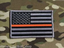 "Subdued THIN ORANGE LINE AMERICAN ""SAR"" Flag Patch"