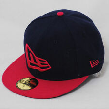 New Era 59fifty Flag Flat Peak Fitted Navy Blue Rose Pink Hat Cap