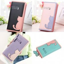 Best Mini Cute Cat Zipper Case Coin Purse Wallet Women Lady Girl Card Holder