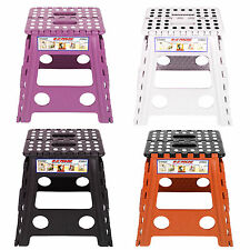 New Plastic Multi Purpose Folding Step Stool Home Kitchen Easy Storage Foldable