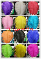 Gorgeous 10-200pcs 10-12 inches / 25-30 cm Natural Ostrich Feather free shipping