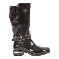Yab Knee High Motorcycle Waterproof Rain Boots in Black @ YAB SHOP
