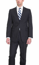 Tommy Hilfiger Trim Fit Navy Blue Striped Two Button Worsted Wool Suit