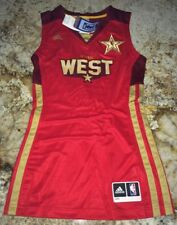 NEW Womens S M L 2XL ADIDAS 2011 WEST All Star Game Red S/L Basketball Jersey