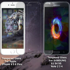 Tempered Glass Screen Protector For iPhone 4 5 6 6 S Plus Galaxy S3 4 5 Note 2 3