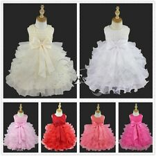Baby Toddler Flower Girls Princess Party Pageant Wedding Bridesmaid Tutu Dress