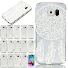 Ultra Thin Slim Clear Hard PC Flower Pattern Back Case Cover For Samsung Galaxy